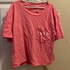 PINK crop top shirt